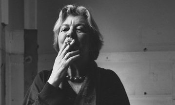 lynn barber, smoking, author, photo, writer, black and white, woman, interviewer, journalist, an education, book